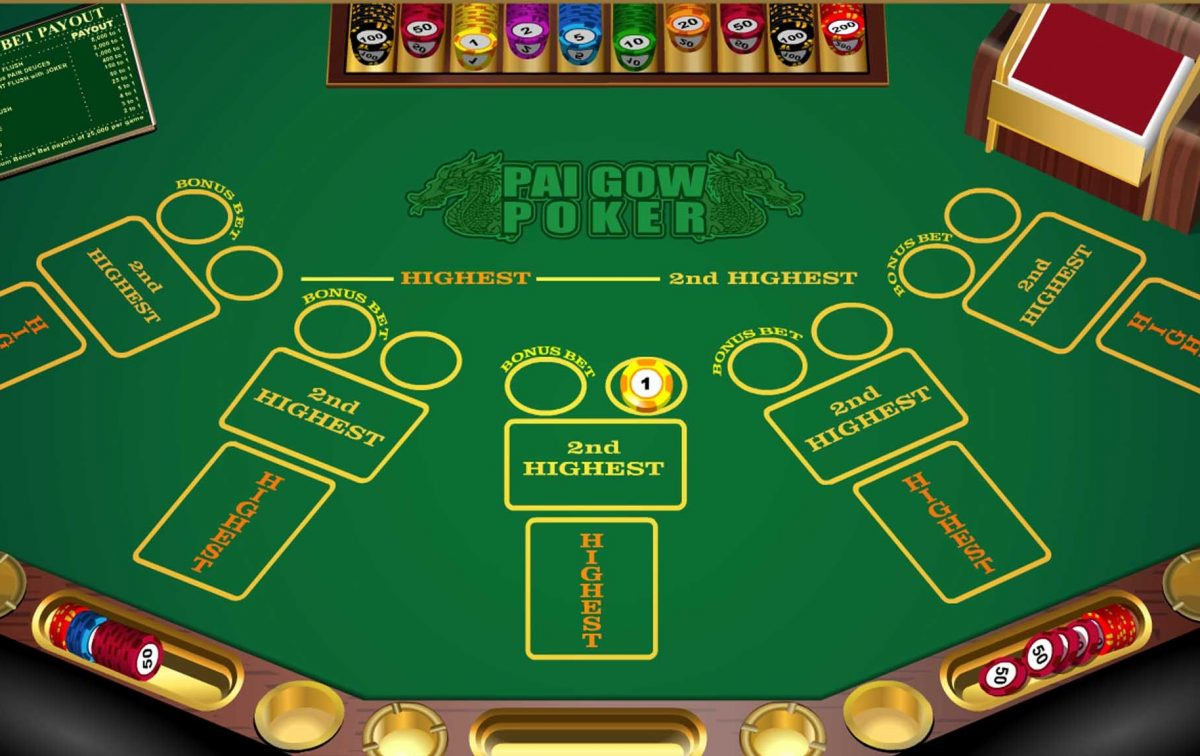 The system of playing pai gow poker